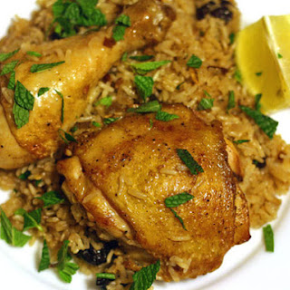 Chicken and Rice With Almonds and Dried Cherries