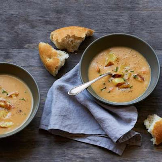 Roasted-Potato Cheddar Soup
