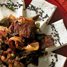 Andrea Nguyen's Tofu with Kimchi and Pork Belly