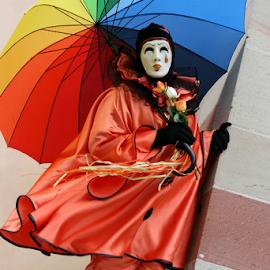 Pierrot by Dominic Jacob - News & Events World Events ( colorfl, colors, venice, mask, pierrot, venetian )