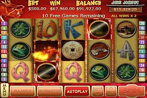 Screenshot of Dragon Dollars Slots