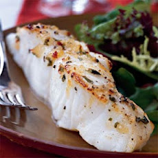 Broiled Sea Bass with Pineapple-Chili-Basil Glaze