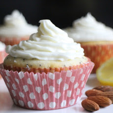 Lemon-Poppy Seed Cupcakes with Almond-Cream Cheese Frosting