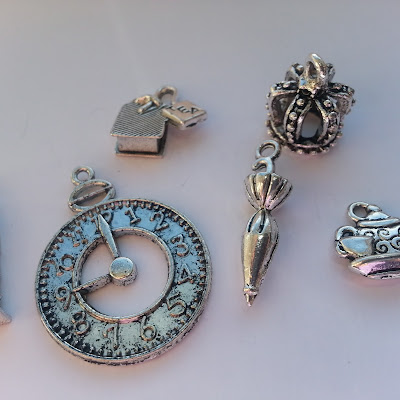 High Tea In London Themed Charm Pack Silver Plated 6 Charms