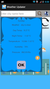 Weather Smart Updater - screenshot