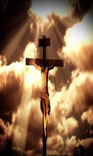 耶稣在十字架上 livewallpap