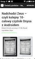 Screenshot of Świat Czytników - News