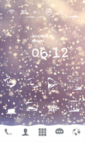 Screenshot of Snow Blossom Dodol Theme