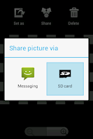 Screenshot of Send to SD card