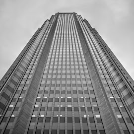 Bank of America Building - Atlanta by Bhargava Chiluveru - Buildings & Architecture Architectural Detail ( building, skyscraper, black and white, perspective, atlanta )