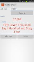 Screenshot of Digit to Word - Number Convert