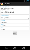 Screenshot of ICalledYou (Missed Call Alert)