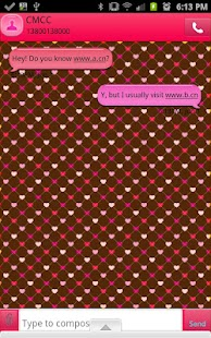GO SMS - Hearts Eternity - screenshot