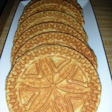 Gingerbread Pizzelles