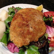 Chicken Milanese With Baby Spring Greens