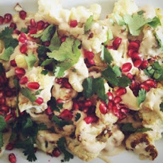 Roasted Cauliflower with Tahini + Preserved Lemon Dressing