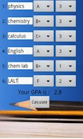 Screenshot of GPA Calculator Plus