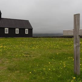 Church by George Marcu - Buildings & Architecture Places of Worship ( wooden church, church, 2014, islanda, black )