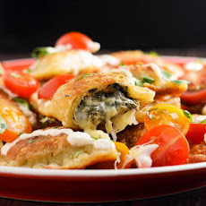 Spinach and Artichoke Dip-Filled Pierogi