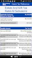 Screenshot of BNA Quick Tax Reference