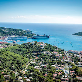 Charlotte Amale by Shawn Klawitter - City,  Street & Park  Skylines ( nature, charlotte amale, st. thomas, virgin islands )