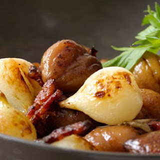 Sautéed Chestnuts, Onions, and Bacon