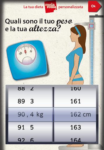 La tua dieta personalizzata - screenshot