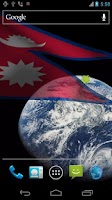 Screenshot of 3D Nepal Flag Live Wallpaper +