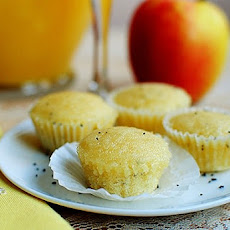 Orange Glazed Mini Poppy Seed Muffins