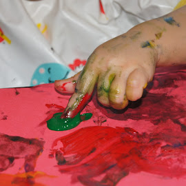 Finger Painting by Cheri Bryan - Babies & Children Hands & Feet (  )