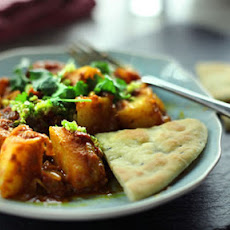 Potato Curry And Flatbread