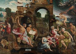 RIJKS: Jacob Cornelisz. van Oostsanen: Saul and the Witch of Endor 1526