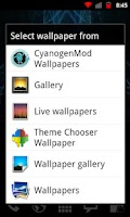 Screenshot of Theme Chooser Wallpapers