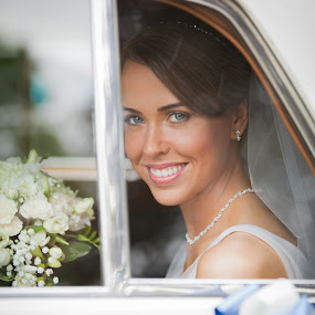 Late Arrival by Paul Eyre - Wedding Bride ( car, bridal, window, wedding, bride )