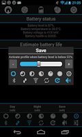 Screenshot of Battery saver with widget