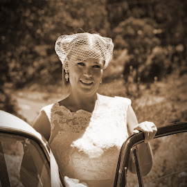 The Bride by Deb Thomas - Wedding Bride ( sepia, wedding, bride, celebrate,  )