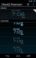 Screenshot of ClockQ Premium