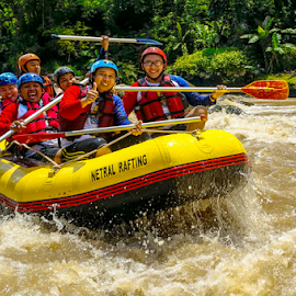 Rodeo Raft ! by OC Andoko - Sports & Fitness Watersports ( watersport, adventure, fun, rafting, river )