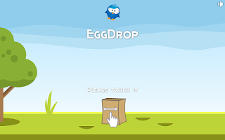 Screenshot of EggDrop FREE one finger arcade