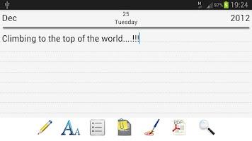 Screenshot of Diary Pro