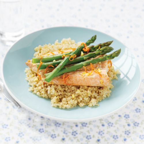 Orange Salmon with Asparagus Recipe | Yummly
