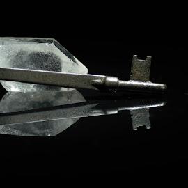 Quartz Key by TJ Campbell - Novices Only Macro ( macro, reflection, quartz, key,  )