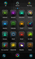 Screenshot of Electric Tourbillon GO Theme