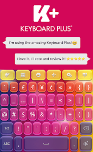 Keyboard Plus Super Colors - screenshot