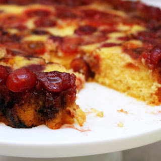 Cherry Cornmeal Upside-Down Cake