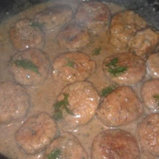 Polish Veal Balls With Dill