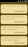 Screenshot of Great Quotes