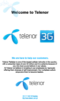 Screenshot of Telenor 3G Packages