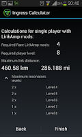 Screenshot of Ingress Calculator