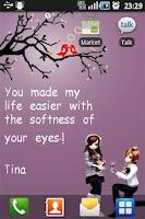 Screenshot of Love Valentine Live Wallpaper